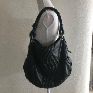 Kenar Genuine Black Soft Leather Shoulder Bag